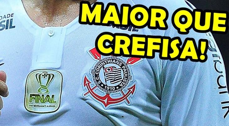 6cc897496a Corinthians fecha com novo patrocinador master e supera Palmeiras
