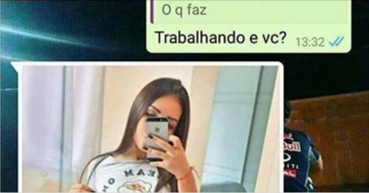 Tem Na Web - Garota tenta passar a perna no WhatsApp e vira piada com as fotos