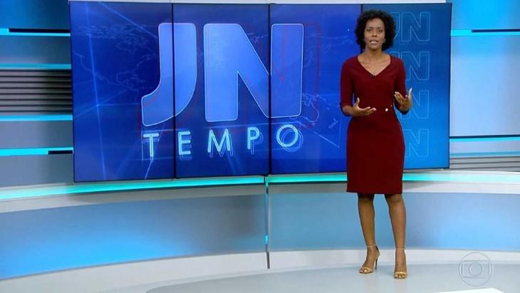 Tem Na Web - Maju é ovacionada por apresentador após ganhar bancada do JN