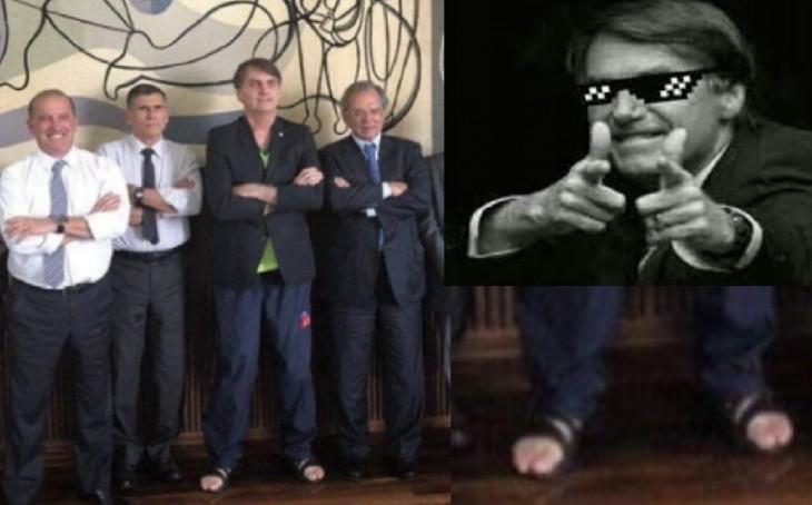 Tem Na Web - Bolsonaro dá exemplo de força e humildade e traje de trabalho é elogiado: Mito