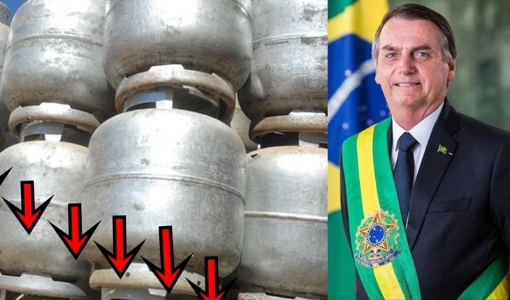 Resultado de imagem para Bolsonaro vai reduzir preço do gás de cozinha pela metade no período de 2 anos