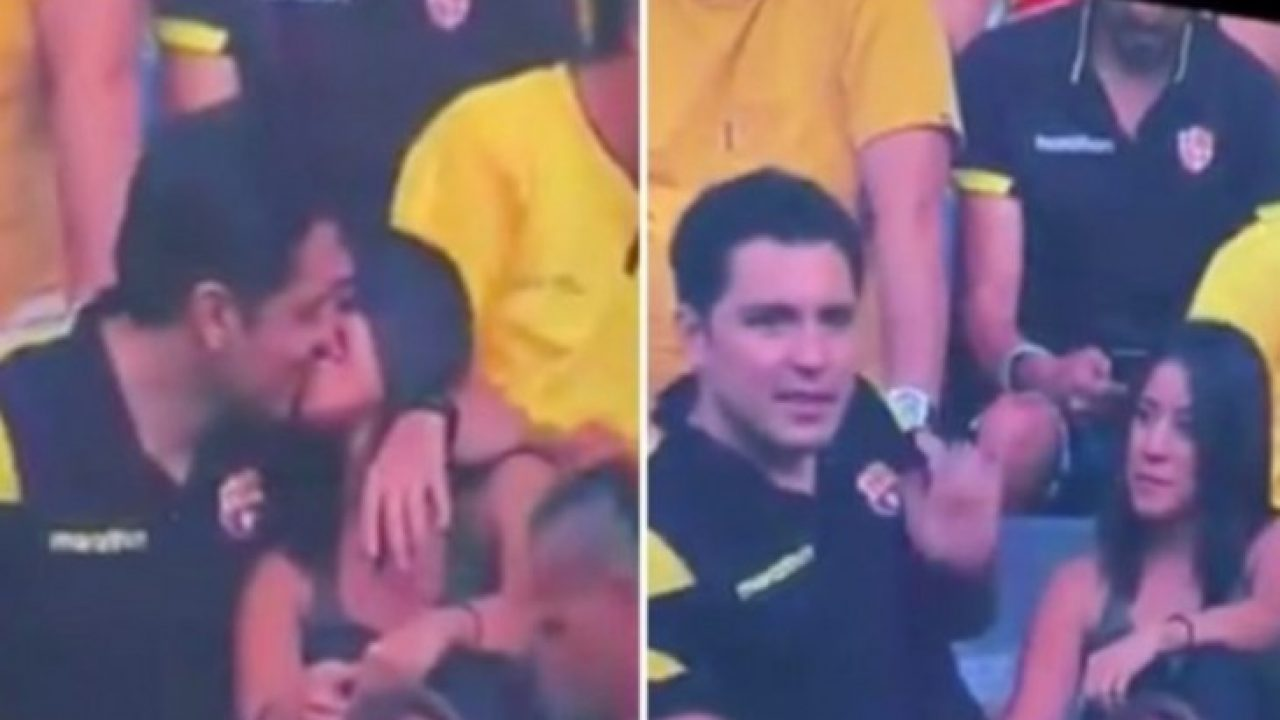 Resultado de imagem para Torcedor flagrado beijando mulher admite traição e fim do casamento