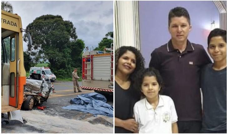 Resultado de imagem para Pai, mãe, filhos e uma tia morrem após carro bater de frente com ônibus