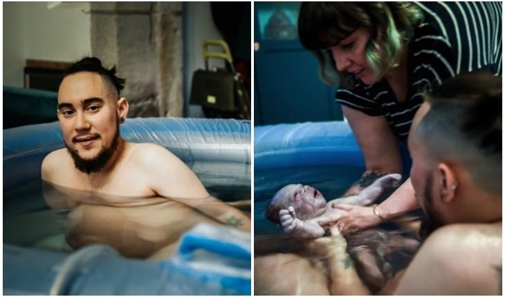 Homem dá à luz seu terceiro filho: 'Foi uma gravidez emocionalmente'